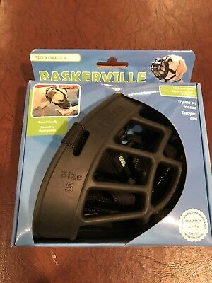 Baskerville Ultra Dog No Bite Muzzle Comfortable Soft Plastic Mesh Basket Black