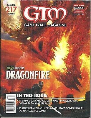 Game Trade Magazine #217 (Presents DRAGONFIRE Sealed with Card, MAR 2018) NM NEW