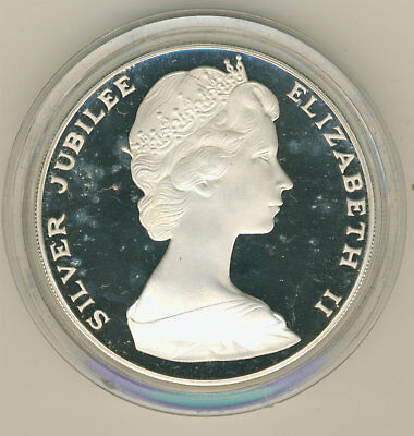 Bermuda $25 Dollar Silver Proof Coin Queen Elizabeths Silver Jubilee 54.75 grams