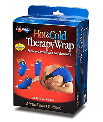 """Caldera Hot and Cold Universal Therapy Wrap with 6"""" X 10"""" Therapy Gel, Medium"""