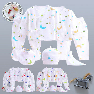 Baby Infants Essential Newborn Layette Outfits Clothes Set 0-3 Months 7PCS New
