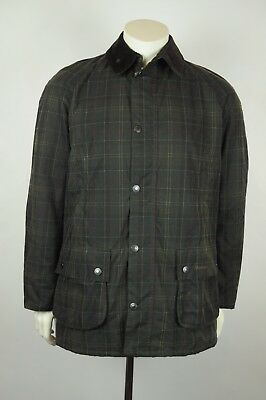 Barbour Hemming waxed tartan jacket L OLIVE