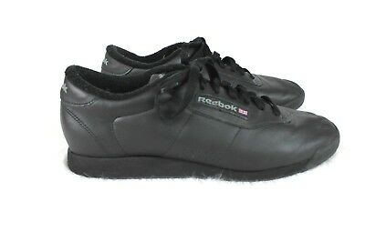 c59e62f28061 REEBOK CLASSIC PRINCESS Black Walking Fitness Workout Shoes Women ...