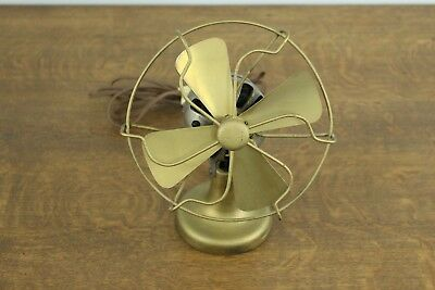 "Vintage Polar Cub Type D Single Speed Small 8"" Metal Blade Desk Fan AC Gilbert"