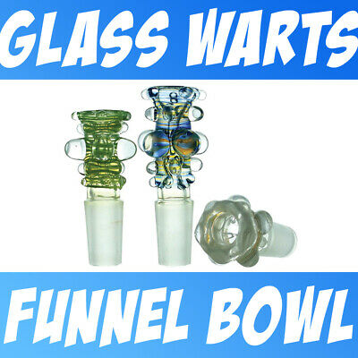 Color Changing Lab Glass Wrap & Warts Glass on glass Fitting Slide Bowl