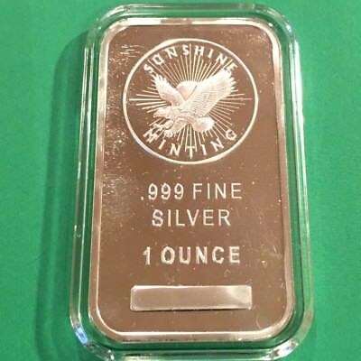 1oz SUNSHINE MINTING .999 FINE SILVER BAR - New Sealed  #3648