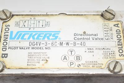 Vickers DG4V-3-6C-M-W-B-40 Directional Control Valve, Coil 633741