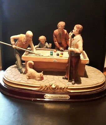 Family Pool game sculpture The Shannon Collection beautiful heavy