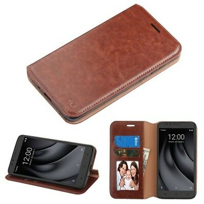 For Coolpad TMobile Revvl PLUS - Book Style Wallet Case Cover with Card Pockets