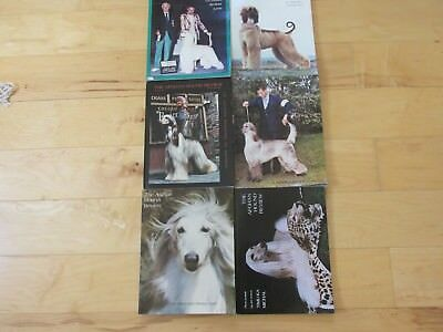 Afghan Hound Review Magazines, 1978, 6 Issues, Full Year