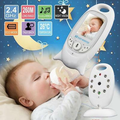 Wireless 2.4GHz Digital Baby Monitor LCD Audio Night Vision Video Camera Music