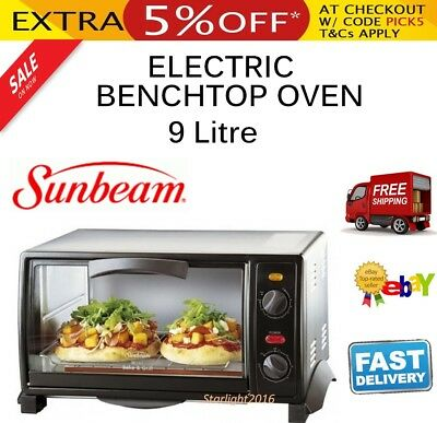 Sunbeam 9L Benchtop Oven Kitchen Countertop Oven Bake Grill Cooker Electric
