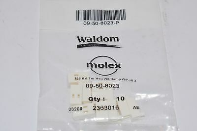 NEW Molex 09-50-8023P Connector Housing, 2578 Series Crimp Contacts, Pack of 10