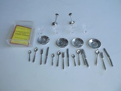 Collectors Miniature 4 Place Setting Silverware Doll House Miniature