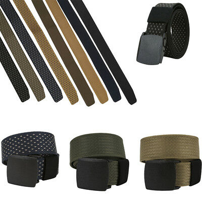 Men's Fashion Outdoor Sports Military Tactical Nylon Waistband Canvas Web Belt