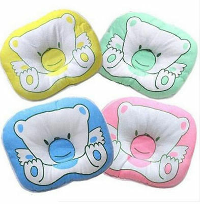 Anti-Flat Head Hot Crib Pram Support Cushion Newborn Baby Pillow Soft Cotton