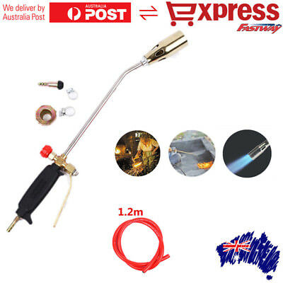 Handle Soldering Weld Blow Torch Liquefied Gas Ignition Tube Nonslip Fire Burner
