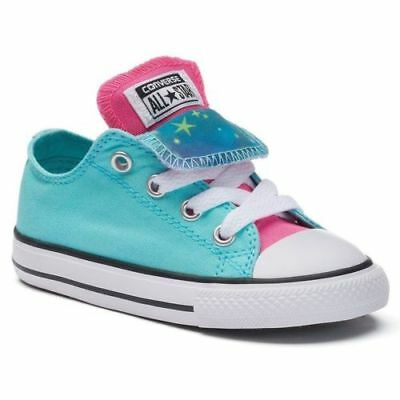 NEW Double Tongue Converse Sneakers Baby Toddlers Size 8