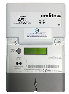 Emlite ASL Single Phase Smart Meter & GSM Wireless Module H382/CIN/INT EMA1
