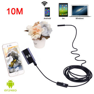 New 10M Endoscope Borescope Wireless 6LED Inspection Camera for Apple Android PC