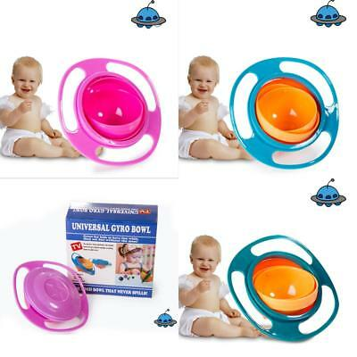 Magic Baby Feeding Toddler  Bowl Gyro 360 Rotating Bowl Non No Spill UK