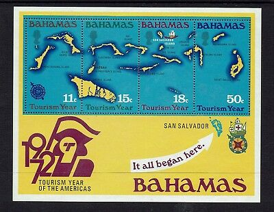 Bahamas...1972 Tourism Year...mini - Sheet....mint