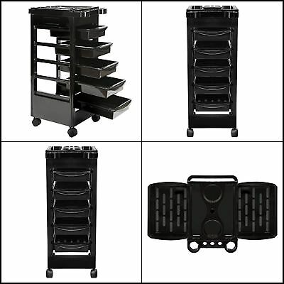 NEW Saloniture Beauty Salon Rolling Trolley Cart With 5 Drawers for Tool Storage