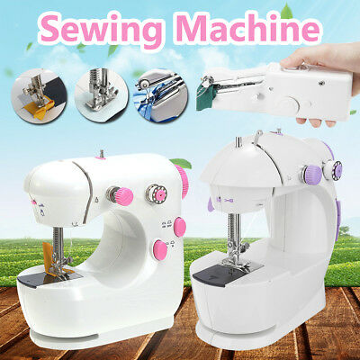 Multi Function Portable Electric Sewing Machine Handheld Stitch Clothes Cordles