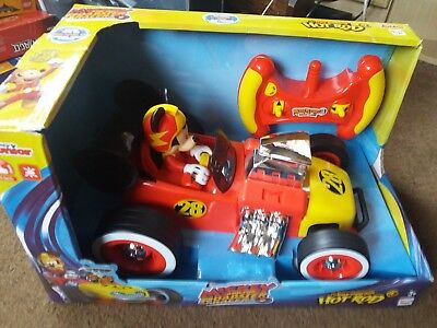 Disney Junior Mickey Mouse.mickey And The Roadster Racers,rc Hot Rod,new 3+