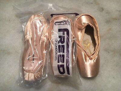 New Freed Of London Pointe Shoes Castle Maker Xx Size 5 Philips Insole