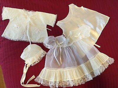 Vintage baby girl christening or special occasion layette, 3-6 mos