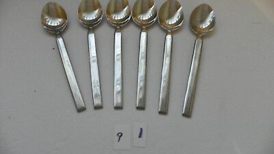 Set Of 6 Cambridge  Sutton  Oval Soup Spoons   Stainless  Flatware