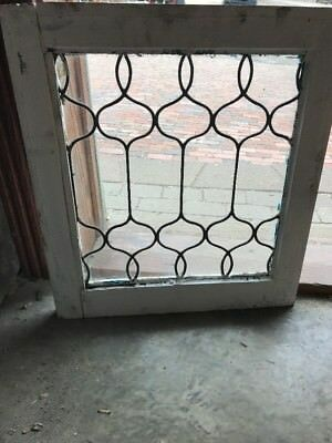 SG 2094 antique leaded glass window 1920s 21.25 x 23.25