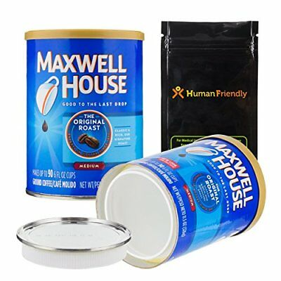 Maxwell Coffee Diversion Safe Stash Can w/ Smell-Proof Bag Authentic