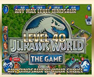 Jurassic WORLD The Game Builder ANY MAX LEVEL DINOSAUR package Android iOS park