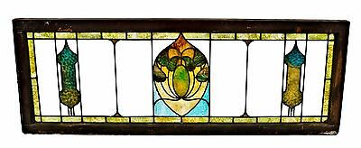 Early 20th Century Art Nouveau Art Glass Transom Window