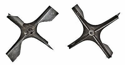 Pair Industrial Pressed Steel Mechanical Fan Components W/ Contoured Blades
