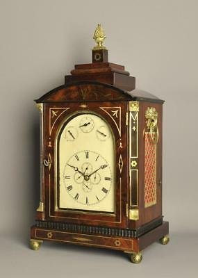 Small Musical Verge Calendar Bracket Clock
