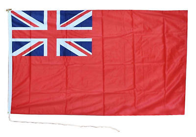 """DuraFlag Red Ensign Duster Boat Flag 18""""'x12""""' Rope and Toggle"""