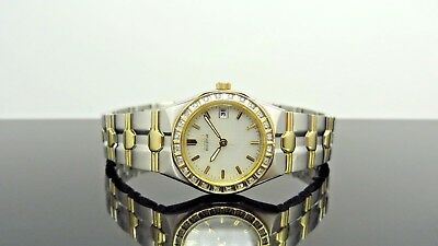 Citizen EW0484 Eco-Drive Lucca Diamond Accented Date Two Tone Women's Watch $425