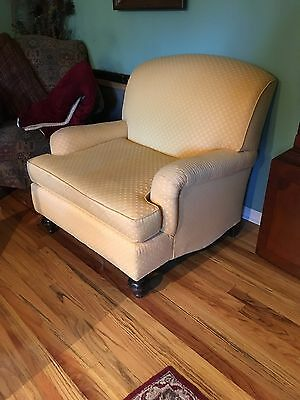 French Country Provincial Vintage Yellow  CUSHION Accent CHAIR