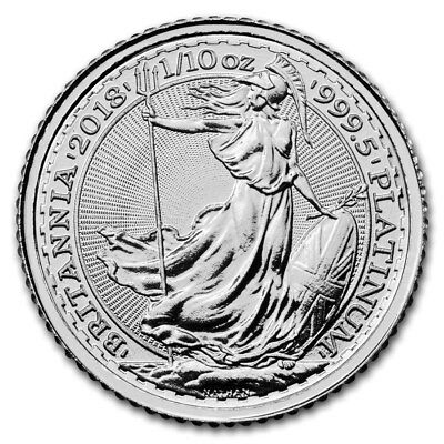 2018 Great Britain 1/10 oz Platinum Britannia BU - SKU #166787