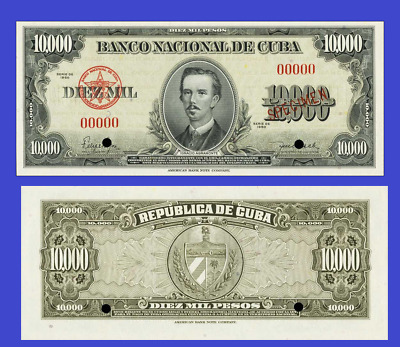 Caribbean island 10 000 PESOS 1960 UNC - Reproduction