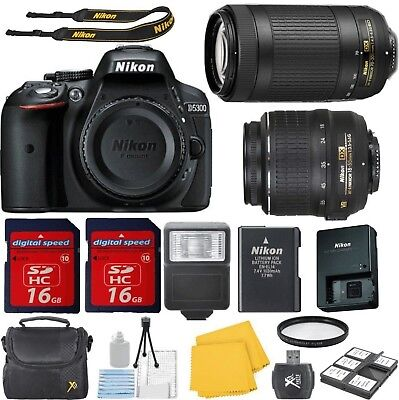 Nikon D5300 24.2 MP CMOS Bundle Digital SLR Camera with 18-55mm+70-300mm Lens...