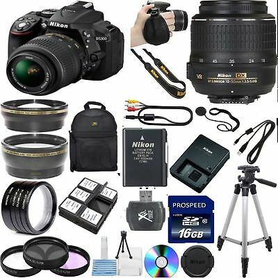 NEW Nikon D5300 DSLR +NIKON 18-55 VR 7 Lens Deluxe 16GB. TOP VALUE BUNDLE+EXTRAS