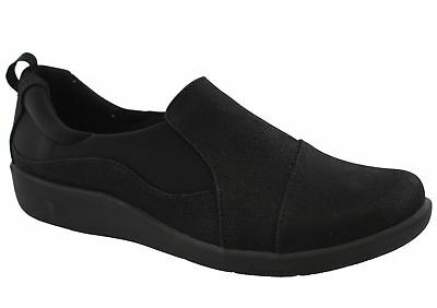 446006a48ecc Womens Cloudsteppers by Clarks Sillian Paz Black Slip On Shoes  261 20931