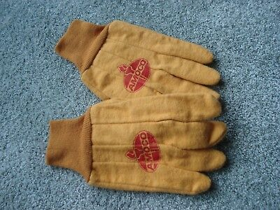 Vintage Amoco logo cloth work gloves - farmer industrial automotive