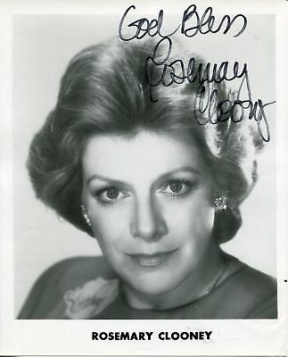 rosemary clooney singer actress white christmas signed photo autograph - Actresses In White Christmas