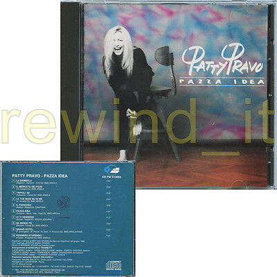 "Patty Pravo ""pazza Idea"" Raro Cd 1990"