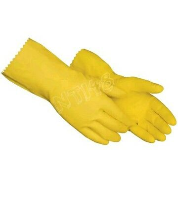 Household Washing Up Gloves Latex Rubber Kitchen Cleaning Industrial Brand New.